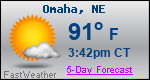 Weather Forecast for Omaha, NE