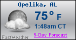 Weather Forecast for Opelika, AL