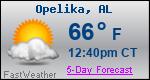 Weather Forecast for Opelika, AL