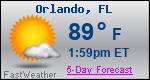 Weather Forecast for Orlando, FL