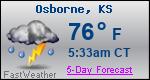 Weather Forecast for Osborne, KS