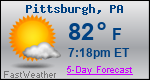 Weather Forecast for Pittsburgh, PA
