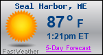 Weather Forecast for Seal Harbor, ME