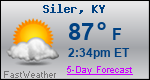 Weather Forecast for Siler, KY