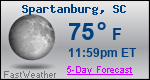 Weather Forecast for Spartanburg, SC