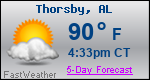 Weather Forecast for Thorsby, AL