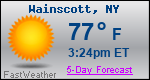 Weather Forecast for Wainscott, NY