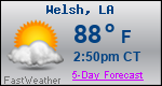 Weather Forecast for Welsh, LA