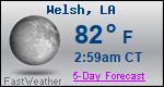 Weather Forecast for Welsh, LA