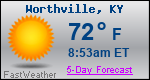 Weather Forecast for Worthville, KY