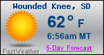 Weather Forecast for Wounded Knee, SD
